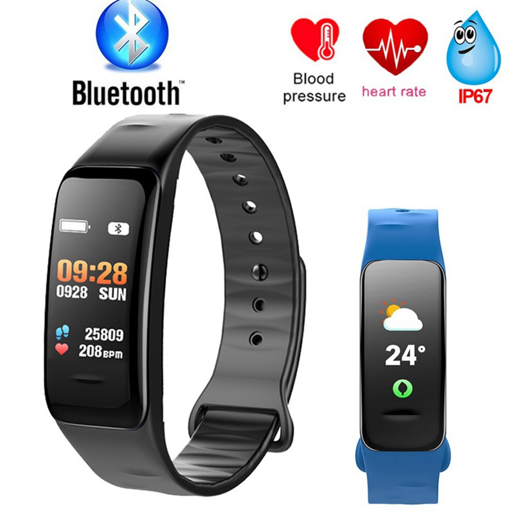 C1s Smart Bracelet Color Screen Waterproof Wristband Heart Rate Monitor Watch Smart Blood Pressure Activity Tracker Wristband