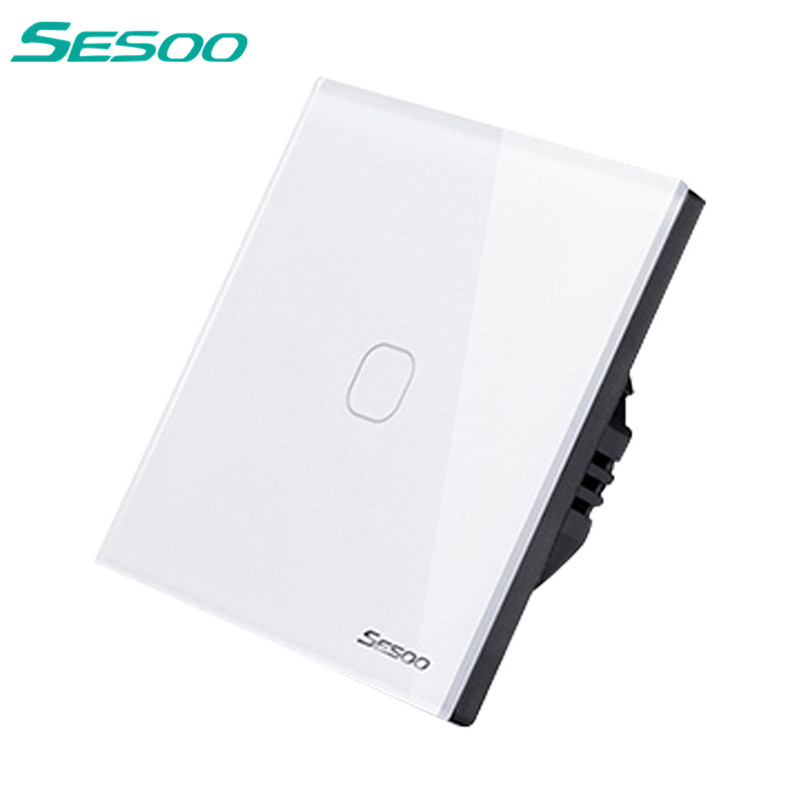 SESOO Touch Switch 1 Gang 1 Way Wall Light Touch Screen Switch