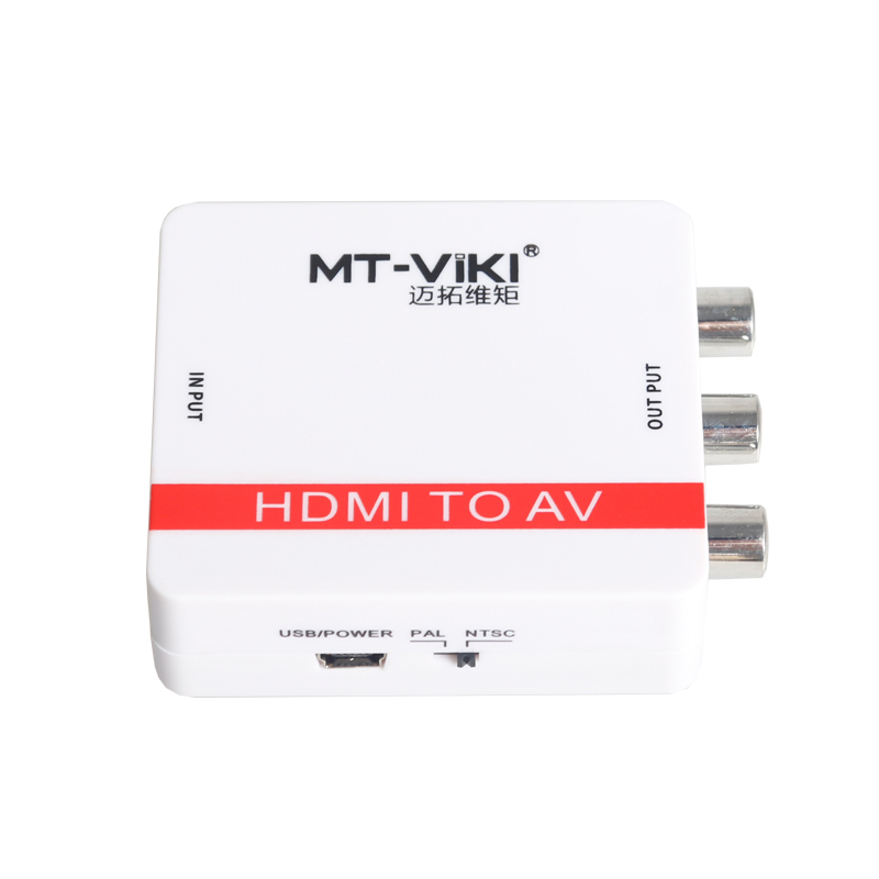MT-Viki Digital HDMI to Analog RCA Video Converter PAL NTSC Switch CVBS L/R AV Synch Adapter USB Powered High Quality HDMI2AV ssriver 4k hd video converter hdmi to rca av cvsb l r video 480p 720p 1080p 2160p hdmi2av support ntsc pal hdmi to av adapter