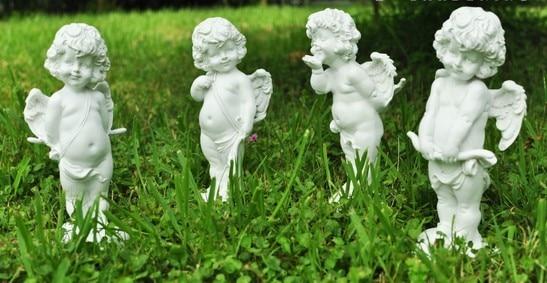 Simulation Cupid Angel Resin Statue Garden Outdoor Hotel Living Room  Decorations Eros Gardening Groceries