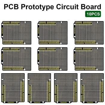 10PCS Keyestudio Prototype P CB Board For Arduino UNO R3 Shield Board FR-4 Environmentally Friendly недорого