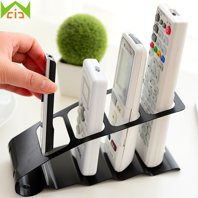 WCIC Remote Control Storage Rack VCR Step Container Plastic Mobile Phone Stand DVD Remote Control Organiser Storage Holder Rack