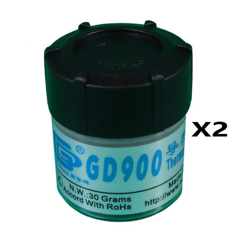 2 Pieces 30 Grams GD900 Thermal Conductive Grease CPU Paste Silicone Plaster Heatsink Compound gd brand heat sink compound gd900 thermal conductive grease paste silicone plaster net weight 150 grams high performance br150
