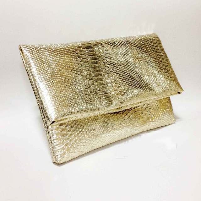 Gold Serpentine Women Purse Clutch Bag Luxury Polish women leather Handbag  Party Purse Wallet female ladies 84be13727