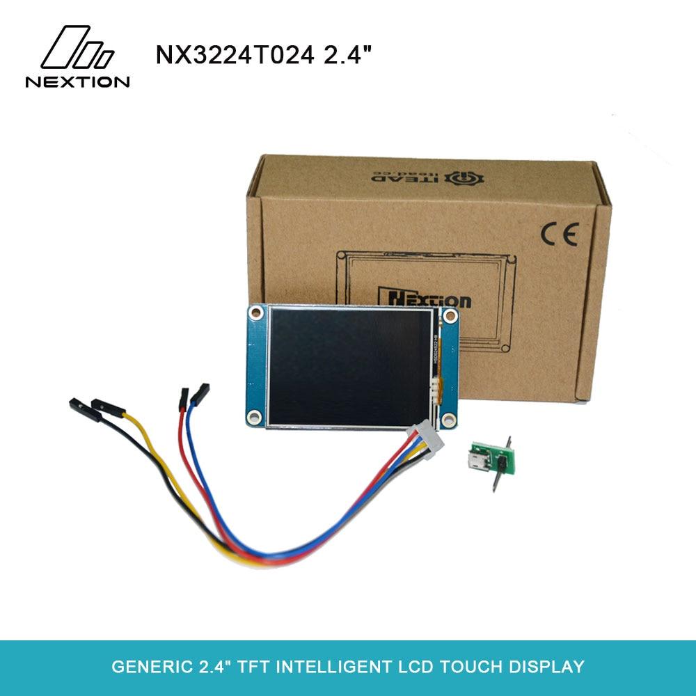 Nextion nx3224t024-2.4 module full módulo de exibição de toque resistive lcd de cor cheia inteligente fácil de operar para programadores básicos