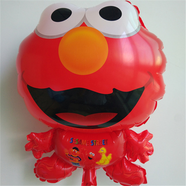 1 Pc Sesame Street Elmo Cartoon Firures Foil Balloon Toy For Kid Party Birthday Gifts Red