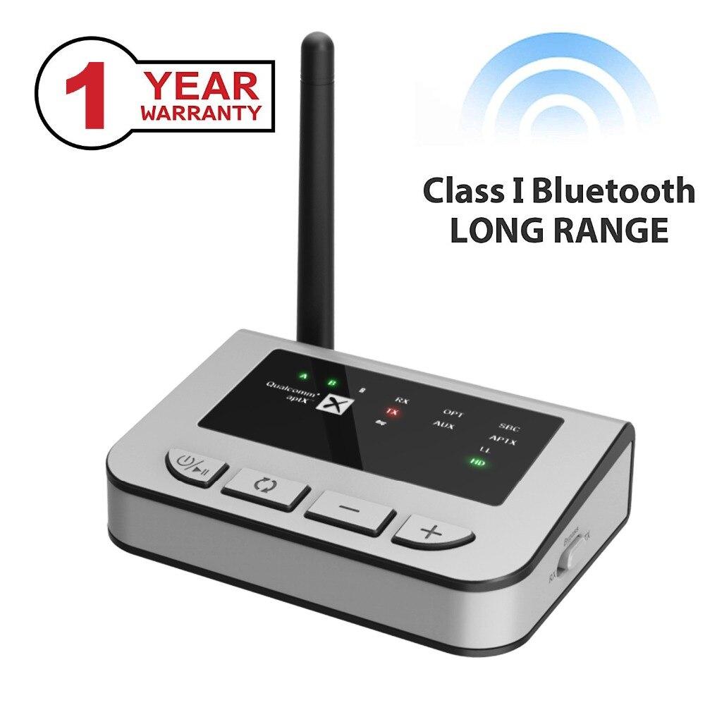 Bluetooth 5.0 longue portée 70 mètre Aptx HD faible latence CSR8675 SPDIF Optique émetteur récepteur Sans Fil accueil TV Adaptateur