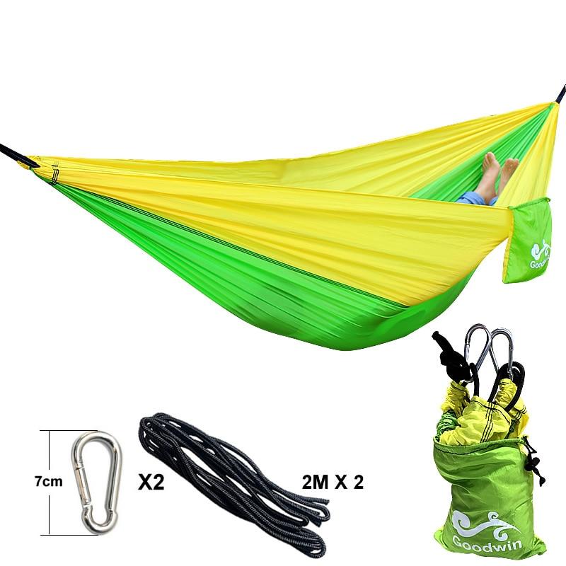 Yellow Green Yellow Hammock 260*140cm Outdoor furniture Loading 300KG army green hammock 260 140cm outdoor furniture loading 300kg
