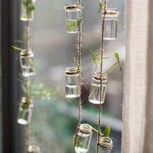 Мини-стеклянная бутылка для хранения скандинавский стеклянный флакон струна для творчества хранение для кувшина органайзера цветочный контейнер Декор для дома