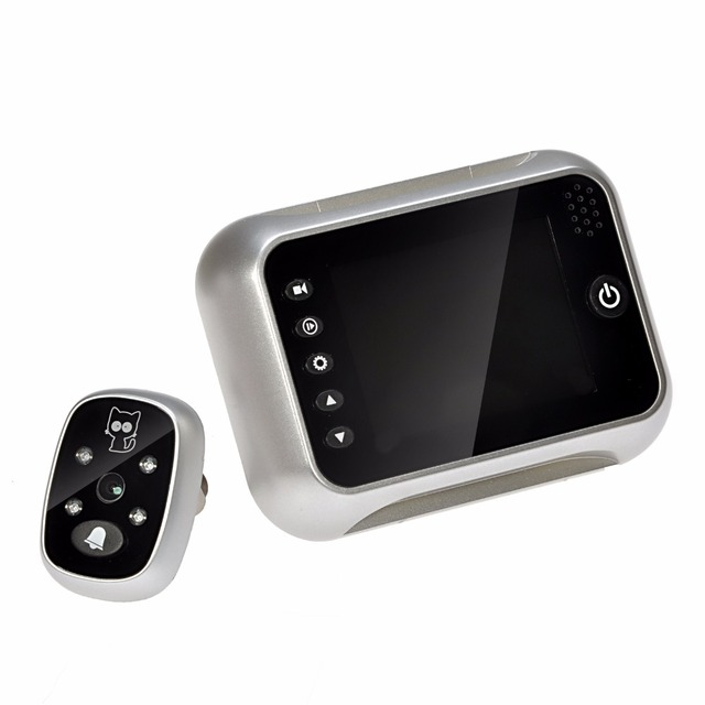 3.5  LCD Screen Digital Peephole Door Viewer 120 Degree Angles Viewing Door Camera Doorbell Support  sc 1 st  AliExpress.com & 3.5