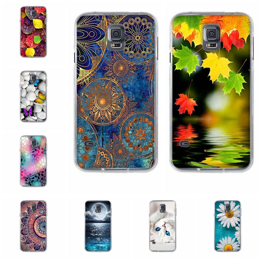For Coque Samsung S5 Case Cover Silicone Case for Samsung Galaxy S5 i9600 G900F S5 Neo SM-G903F Cover Soft TPU Back Printing Bag