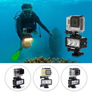 Image 2 - עמיד למים צלילה LED אור וידאו זרקור 40m מתחת למים למלא מנורת Dimmable הר אבזם בורג רצועת ערכת עבור GoPro Hero 5 6