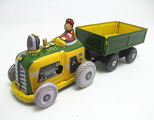 Kids Children Mini vintage Tin Toys Friction Truck Childhood Classic Wind Up Clockwork Tin Toy Collection Bar Decoration W249