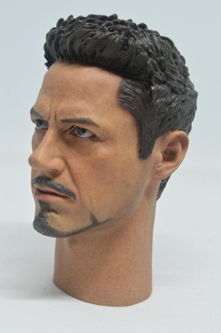 1//6 Scale Tony Stark Head Sculpt for MK43 MK45 Hot Toys T800