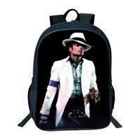 2018 Movie Star Michael Jackson 3D Prints School Backpack Bag Casual Children Women Travel Rucksack School