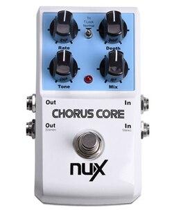 Nux Chorus de guitare de base pédale Tri choeur Stomp Boxes effet de la pédale True Bypass Tone fonction de verrouillage Instrument de musique
