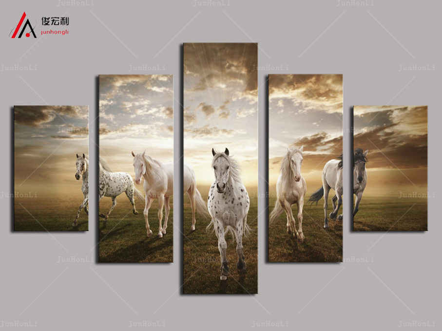 picture print cheap price art pictures running horse large hd modern home wall decor abstract canvas