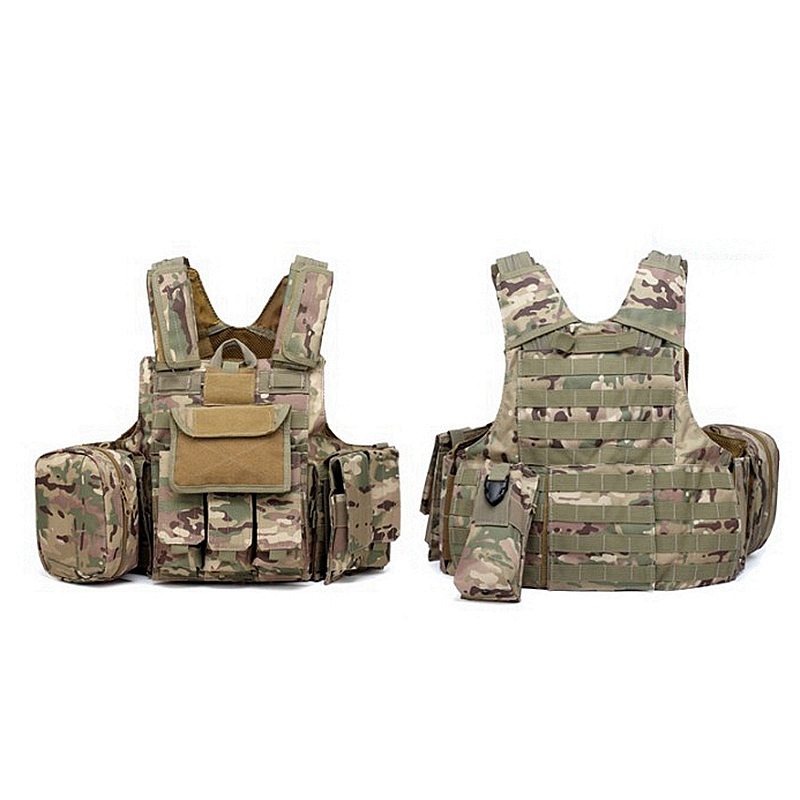 Outdoor Multicam CP ACU Tactical Military Vest Strike Battle Combat Airsoft Molle Hunting Assault Plate Carrier Vest Lightweight