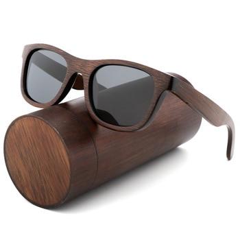 Best Handmade luxury Sunglasses Men Polarized Zebra Vintage Bamboo Wood Women Sunglasses High Quality With Glasses Case Box vivibee women sunglass case pu leather 2019 men vintage spectacle soft cases eyeglass high quality brown box sunglasses pocket