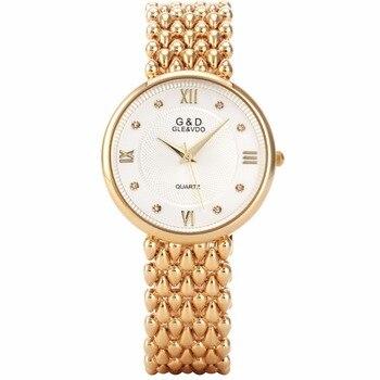f493496af87b 2018G   D superior de la marca de lujo de mujer relojes de moda de cuarzo  reloj de pulsera reloj femenino Hapyy Año Nuevo regalos