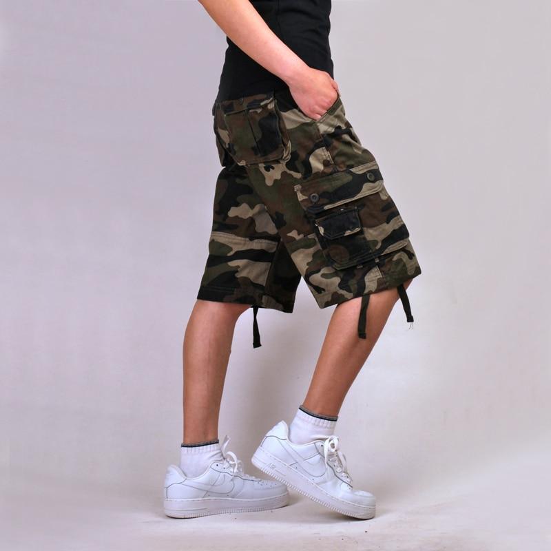 Новые камуфляжные мужские шорты-карго, бермуды, мужские повседневные шорты-карго, мужские камуфляжные шорты-карго в стиле милитари