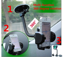 Car Mobile Phone Holder Stand Dashboard Windshield Sticky Cell Phone Holder for iPhone Support Samsung GPS