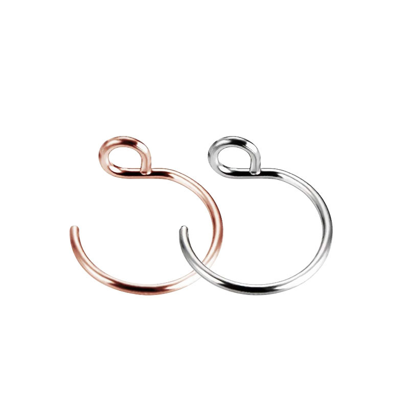 1Pcs Stainless Steel Nose Bone Nail Gold Slive Human Piercing Jewelry