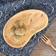 Creative Japanese-style split fruit plate Dim Sum cake wooden Saucer Breakfast Tableware