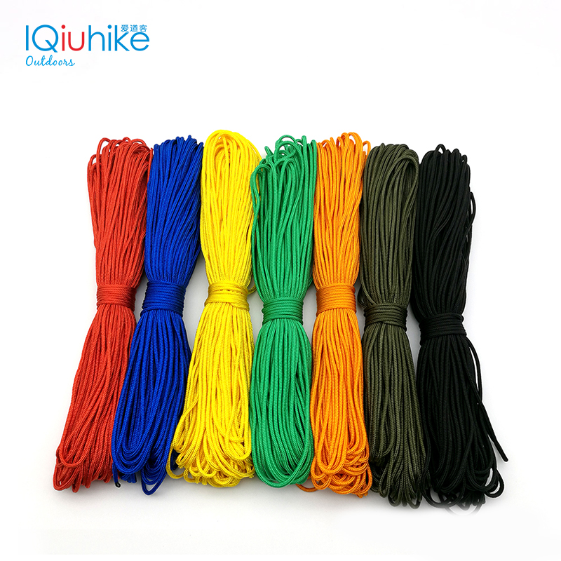 IQiuhike 50FT 100FT 15-31 Meters Dia 2mm one stand Cores Paracord for Survival Parachute Cord Lanyard Camping Climbing Rope 100ft 550lb nylon paracord parachute cord string rope for camping hiking survival