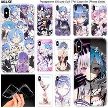 Hot Anime ReZERO Ram Rem Mode Silikon Fall Abdeckung für Apple iPhones 11 Pro XS Max X XR 7 8 6 6s Plus 5S SE TPU Weichen Fällen