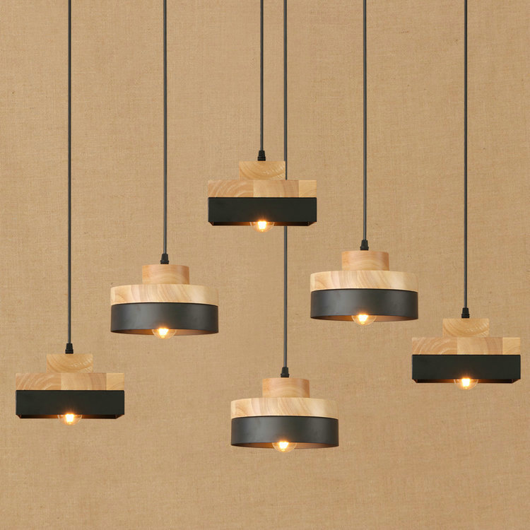 IWHD Wood Vintage Lamp LED Pendant Lights Style Loft Industrial Lighting Hanging Lamps Iron Kitchen Bar Lamparas Home Lighting loft style vintage pendant lamp iron industrial retro pendant lamps restaurant bar counter hanging chandeliers cafe room