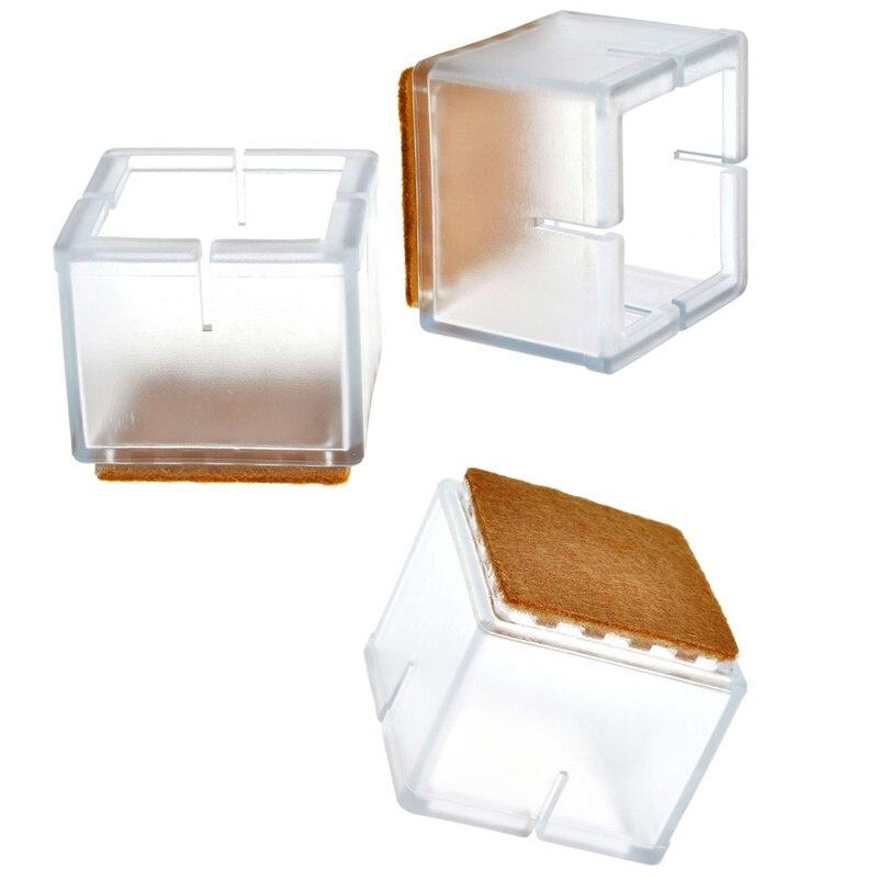 Bureaustoel Wit Leer Metalen Voet.Cdata Sunligoo 8pcs Vierkante Siliconen Been Caps Covers