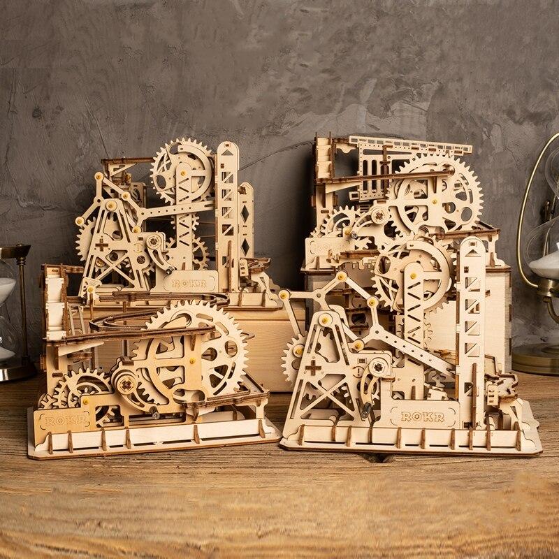 Robotime домашний декор DIY деревянные поделки 4 вида мраморный шар гонка стол украшение Гостиная аксессуары Подарки для детей LG