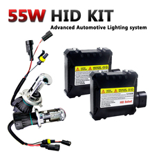 Xenon H4 HID Conversion Kit Xenon Light Bulb+ Ballasts Set Kit 55W 12V Bi Xenon Car Headlamp 3000K 5000K 6000K 10000K 12000K все цены