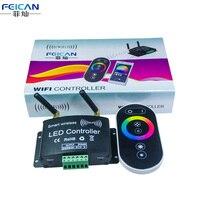 DC12-24V 4A/CH RGB Wifi LED Kontrol + RF Dokunmatik Uzaktan Kumanda Kontrolörü Tarafından Android/IOS Için APP SMD5050 3528 RGB LED Şerit