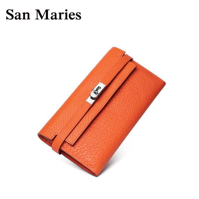 nouvelle arrivee daf88 e9e57 € 27.8 48% de réduction|Super cadeau!! Portefeuille de luxe femmes Designer  de haute qualité célèbre marque femme portefeuilles en cuir véritable ...