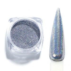 Image 4 - Gradient Laser Mirror Glitter Powder Holographic Sequins Nail Art Chrome Pigment Sparkly Paillette Manicure Decoration JI1028