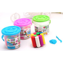 Soft Polymer Clay Modeling Magic Air Dry slime Plasticine Playdough Set slime Foam Clay 12 Colors(China)