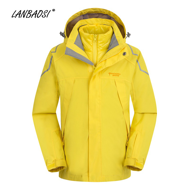 Winter Kids Boys Windbreaker 3in1 Hooded Jackets Coat Cotton Liner Child Outdoor Sports Hiking Camping Climbing