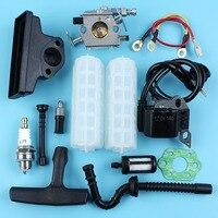 Карбюратор катушка зажигания воздушный топливный масляный фильтр линейный шланг набор для STIHL MS250 MS230 MS210 021 023 025 Бензопилы с зажимом
