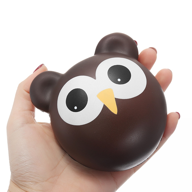 Newest for Squishy Owl Bun Slow Rising Toy Cute Animals Cartoon Collection Gift Deocor Toy PU Foam Phone Straps Scented