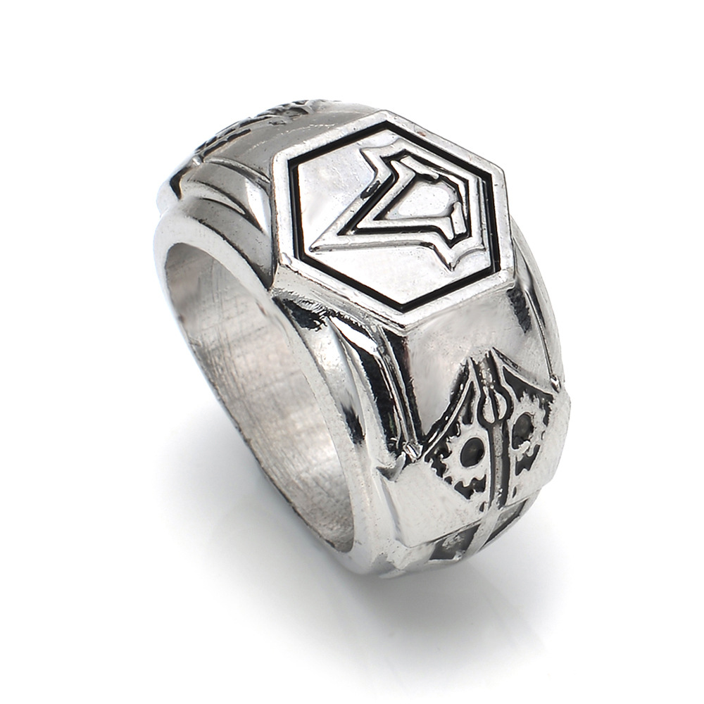 Silver Color Plated Assassins Creed Rings For Women Men Jewelry Anel  Bijoux(china (mainland