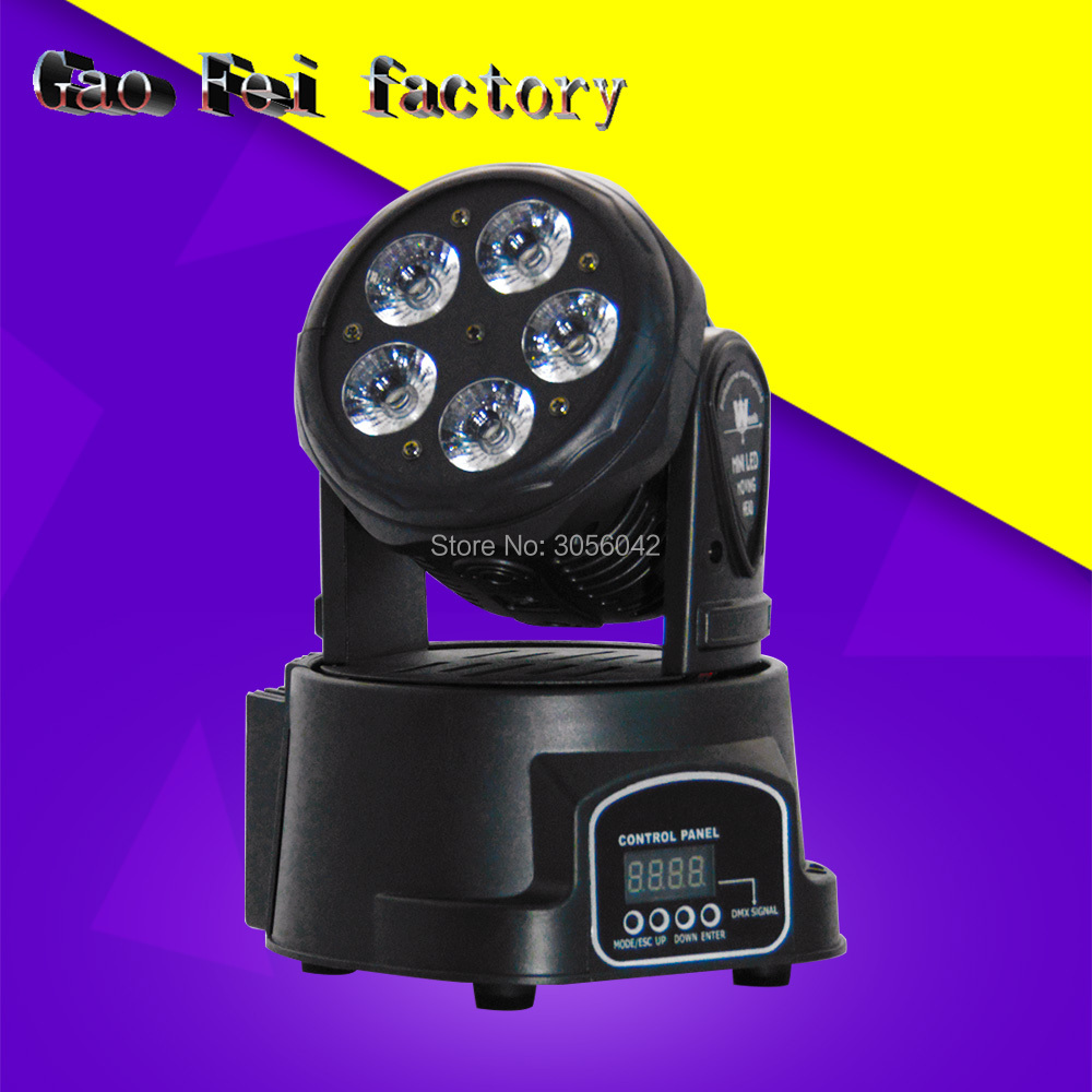 Led 5x15w Wash Light RGBWA+UV 6in1 Mini Moving Head Light Disco Party Night Club