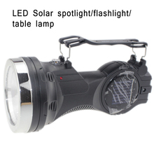 LED Handle Flashlight Office Home Flip Top Table Lamp Solar Energy Charging LED Outdoor Camping Lighting Searchlight