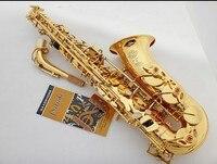 Hot sale Saxophone Alto engraved brass France Henri Super Action 80 Electrophores Gold Sax musical instruments professional Sax