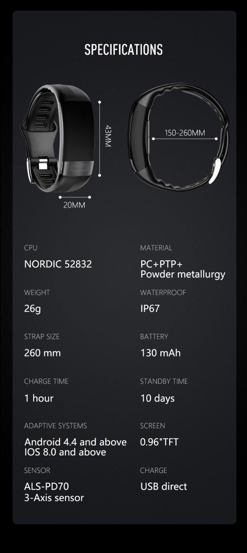 HTB1PXtTOgHqK1RjSZFgq6y7JXXaY MKS Smartband Blood Pressure Smart Band Heart Rate Monitor PPG ECG Smart Bracelet Activity Fitness Tracker Electronics Wristband