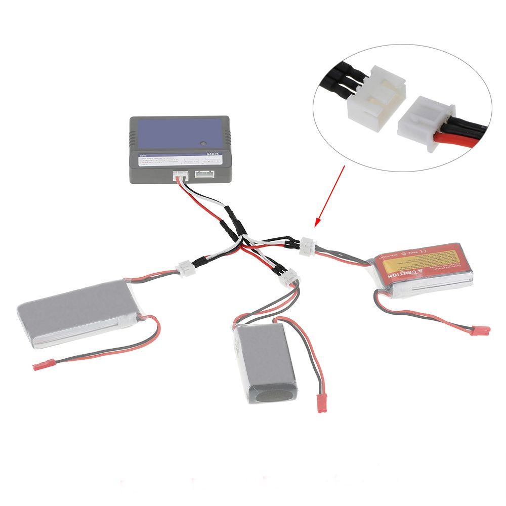 SYMA X8C X8W X8G MJX X600 X101 V666 RC Drone Li-po Battery Charger Plug Multi Output 7.4V Cable X8C RC Quadcopter Spare Parts image