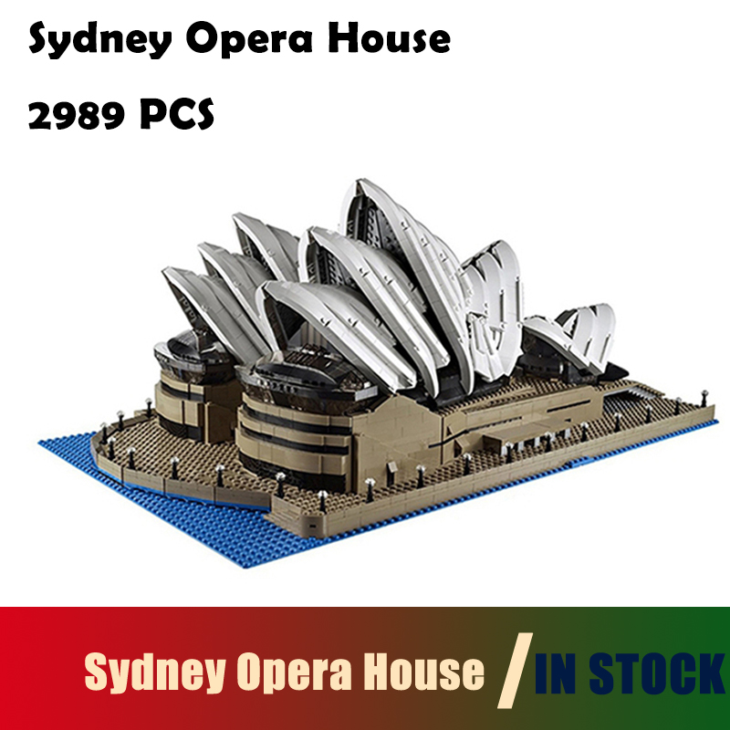 Compatible with lego Model Building Blocks toys 2989Pcs 17003 Sydney Opera House Kits figures 10222 Educational toys hobbies lepin 17003 2989pcs sydney opera house model building kits blocks bricks toys compatible legoed 10222