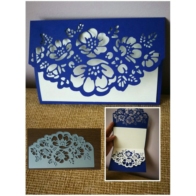 155*90mm Lace Border Background Metal Cutting Dies Craft Diy Scrapbooking Die Cut Embossing New Year 2019 Stencil Decor Template
