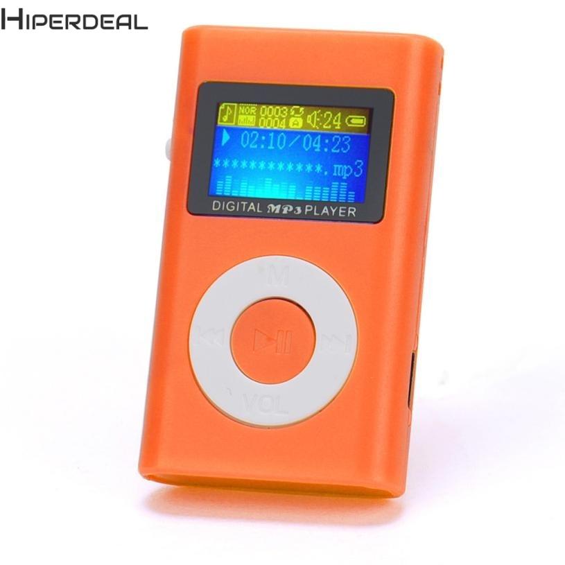 Hiperdeal плеера USB Mini MP3 плеер ЖК-дисплей Экран Поддержка 32 ГБ Micro SD карты памяти красный плееры и горячей 17Dec13 Прямая поставка